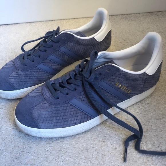 Adidas Gazelle Trainers Purple Snake Suede